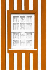 Welcome to Portugal Collection - Orange Striped Window by Philippe Hugonnard