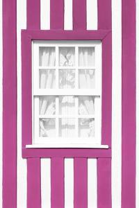Welcome to Portugal Collection - Pink Striped Window by Philippe Hugonnard