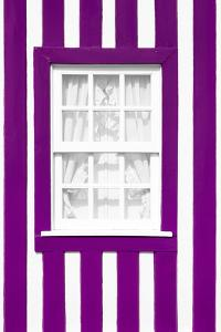 Welcome to Portugal Collection - Plum Striped Window by Philippe Hugonnard