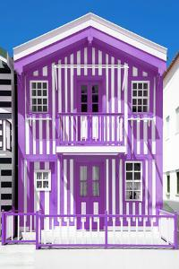 Welcome to Portugal Collection - Purple Striped House by Philippe Hugonnard