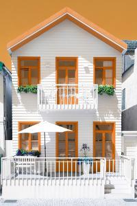 Welcome to Portugal Collection - White House and Orange Windows by Philippe Hugonnard