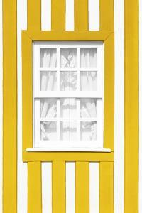 Welcome to Portugal Collection - Yellow Striped Window by Philippe Hugonnard