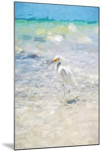 White Egret - In the Style of Oil Painting by Philippe Hugonnard