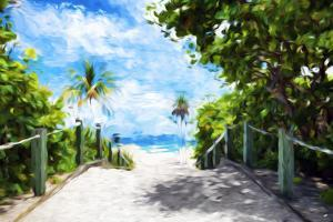 White Sand Beach - In the Style of Oil Painting by Philippe Hugonnard