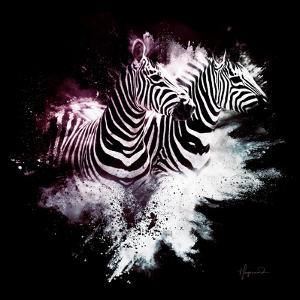 Wild Explosion Square Collection - The Zebras by Philippe Hugonnard