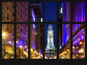 Window View - City Hall and Avenue of the Arts by Night - Philadelphia - Pennsylvania by Philippe Hugonnard