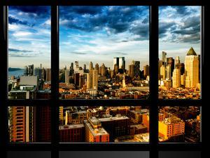 Window View, Landscape at Sunset, Theater District and Hell's Kitchen Views, Manhattan, New York by Philippe Hugonnard