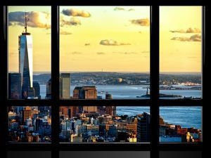 Window View, One World Trade Center (1WTC) at Sunset, Midtown Manhattan, New York by Philippe Hugonnard