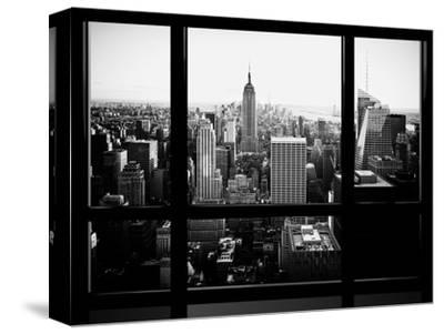Window View, Skyscrapers and Empire State Building Views, Midtown Manhattan, Hudson River, New York