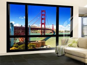 Window View, Special Series, Golden Gate Bridge, San Francisco, California, United States by Philippe Hugonnard