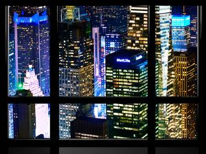 Window View, Special Series, Landscape by Night, Manhattan, New York City, United States by Philippe Hugonnard