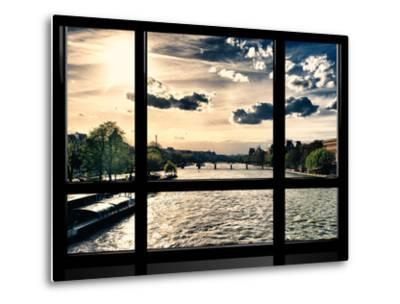 Window View, Special Series, Landscape View on Seine River and Eiffel Tower, Paris, France, Europe