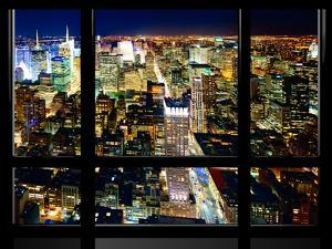 Window View, Special Series, Skyline by Night, Manhattan, New York City, United States by Philippe Hugonnard