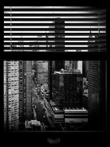 Window View with Venetian Blinds: 42nd Street with the Empire State Building and Times Square by Philippe Hugonnard
