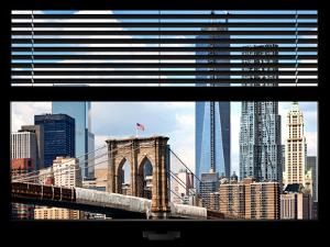 Window View with Venetian Blinds: New York City with One World Trade Center by Philippe Hugonnard