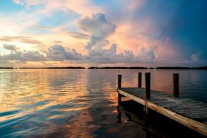 Wooden Jetty at Sunset by Philippe Hugonnard