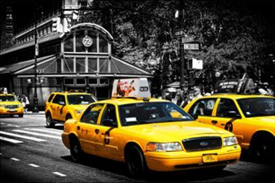 Yellow Cabs, 72nd Street, IRT Broadway Subway Station, Upper West Side of Manhattan, New York