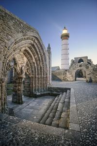 Bretagne, Phare Saint Mathieu Et Porche De L'Eglise Notre Dame De Grâce by Philippe Manguin