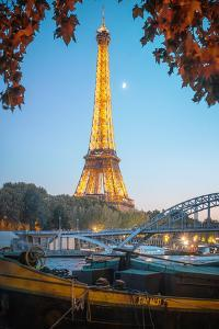 Eiffel Tower over the Seine by Philippe Manguin