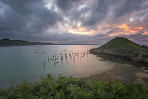 Gwin Zegal Harbor In Brittany by Philippe Manguin