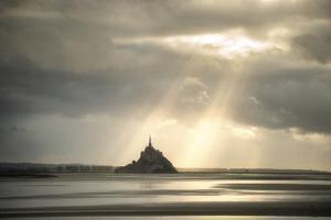Light on Mont Saint Michel by Philippe Manguin