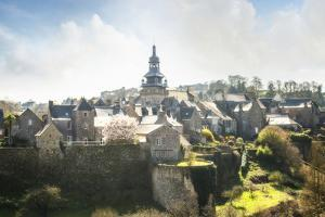 Moncontour Old Village In Brittany Wall Art by Philippe Manguin