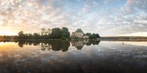 Panoramic of Abbaye Paimpont in Brittany by Philippe Manguin