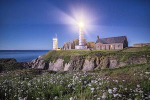 Pointe Saint Mathieu Lighthouse by Night by Philippe Manguin