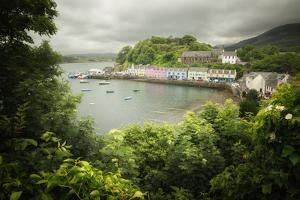 Scotland Portree Harbor On Skye Island by Philippe Manguin