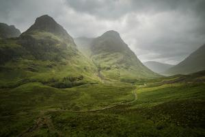 Scotland The Road To Glencoe By The Three Sisters by Philippe Manguin