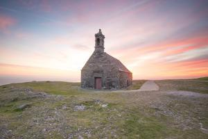 Sunrise for saint michel  chapel  in  brasparts by Philippe Manguin