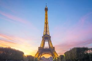 Sunset on the Eiffel Tower by Philippe Manguin