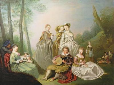 A Musical Family by Philippe Mercier