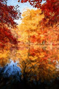An Autumn Reflection by Philippe Sainte-Laudy