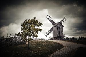Angla windmills by Philippe Sainte-Laudy