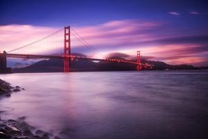 Golden Gate Bridge at Sunset by Philippe Sainte-Laudy