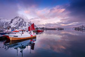 Svolvaer Harbor by Philippe Sainte-Laudy