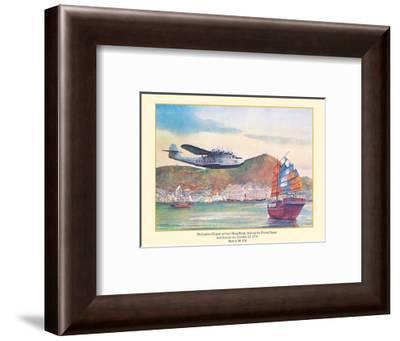 Philippine Clipper Arrives Hong Kong Oct. 1936 - Pan American Airways - Martin M-130-John T. McCoy-Framed Art Print