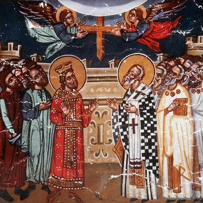 Exaltation of the Holy Cross, Emperor Heraclius and Patriarch Zacharias, 1494