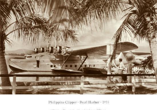 Phillippine Clipper, Pearl Harbor, Hawaii, 1935 Art Print by   Art com