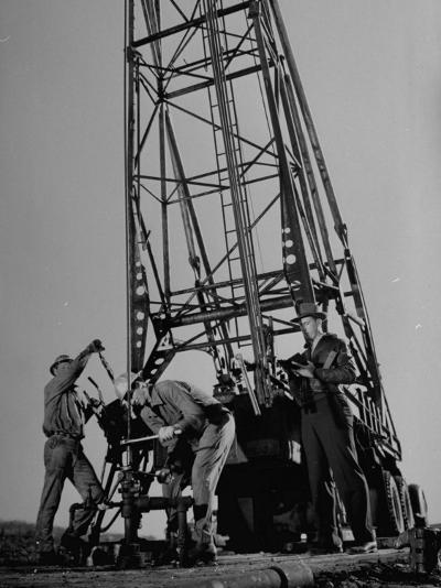 Phillips Petroleum Company Employees, Members of the Phillips 66 Champion Amateur Team, Working-Cornell Capa-Premium Photographic Print