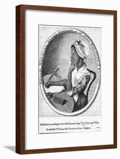 Phillis Wheatley, Frontispiece to Her 'Poems on Various Subjects', 1773-English School-Framed Giclee Print