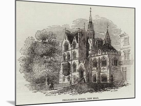 Philological School, New Road--Mounted Giclee Print