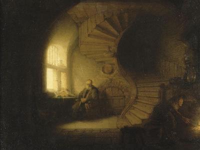 Philosophe en méditation-Rembrandt van Rijn-Giclee Print