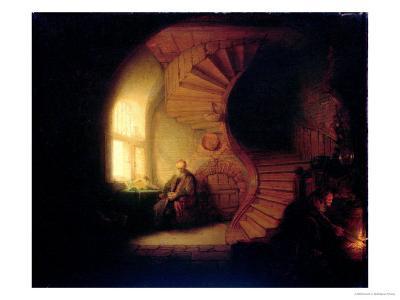 Philosopher in Meditation, 1632-Rembrandt van Rijn-Giclee Print