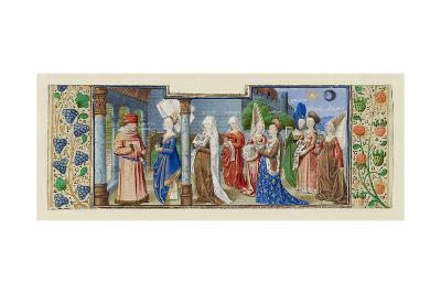 Philosophy Presenting the Seven Liberal Arts to Boethius, Ca 1465--Giclee Print