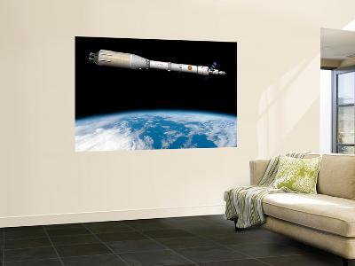 Phobos Mission Rocket System Ready for Departure-Stocktrek Images-Wall Mural