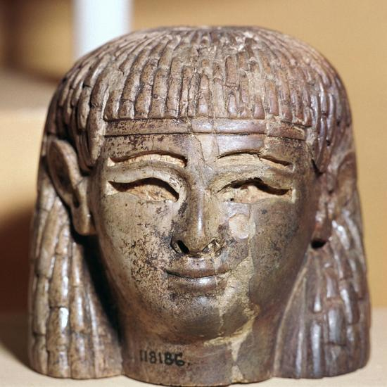 Phoenician ivory head found at the Burnt Palace in Nimrud, 8th century BC-Unknown-Giclee Print
