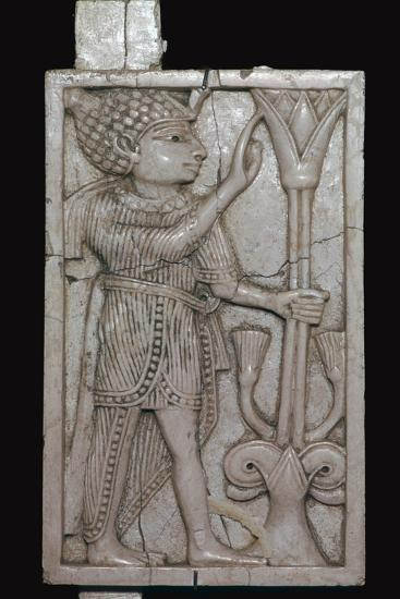 Phoenician ivory panel from a piece of furniture, 8th century BC-Unknown-Giclee Print