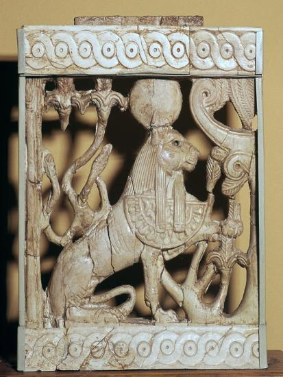 Phoenician ivory panel from a piece of furniture-Unknown-Giclee Print